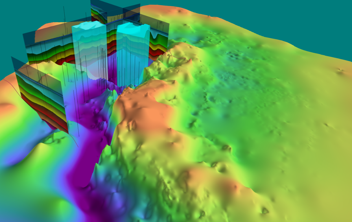 3D permian with surveys wells and btm