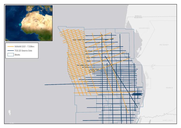 TGS 2D Seismic Offshore Mauritania