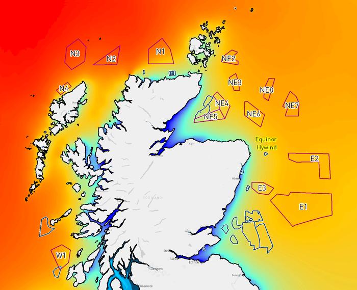 TGS Scotwind Wind Model Offshore Scotland